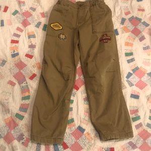 Lands'End Boys Husky Cargo Lined Pants size 12 H
